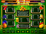 25 Red Hot Burning Clover Link™ Paytable