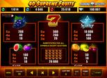40 Supreme Fruits™ Paytable
