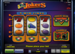 5 Line Jokers™ Paytable