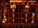 50 Extreme Hot™ Paytable