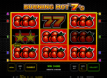 Burning Hot™ 7's Paytable