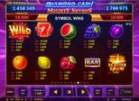 Diamond Cash™: Mighty Sevens Paytable