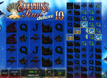 Dolphin's Pearl™ deluxe 10 Paytable