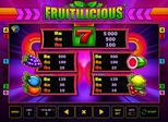 Fruitilicious™ Paytable