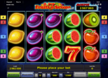 Fruits'n Sevens deluxe Paytable