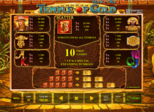 Highroller Book of Ra™ – Temple of Gold Paytable