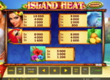Island Heat Paytable