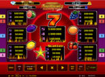 Jackpot of Legends: Sizzling Hot™ deluxe Paytable