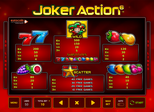 Joker Action 6 Paytable