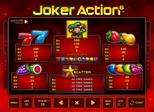 Joker Action 6 Paytable