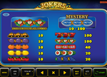 Jokers Casino™ Paytable