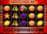 Plenty of Fruit™ 20 hot Paytable