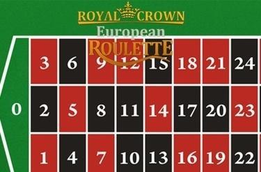 Ruleta Royal Crown europea