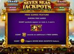 Seven Seas Jackpots™ Paytable