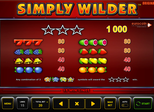 Simply Wilder™ Paytable