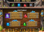 Strike It Gold™: Win Ways™ Paytable