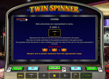 Twin Spinner Paytable