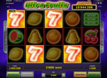 Ultra Fruits Paytable